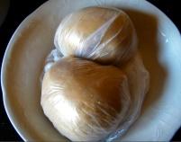 Nudelteig: 500g Dinkel-Keimlingsmehl, 2 EL Olivenöl, 2 TL Salz, 5 Eier