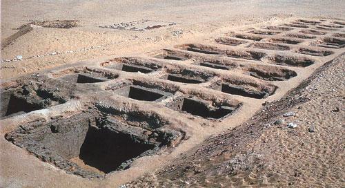Menes Abydos Grab mit Holzdecke