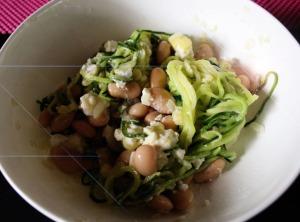 Zucchini-Weißebohnen-Salat