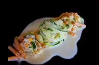 Zucchinispaghetti mit Gorgonzola-Kokosmilch 2