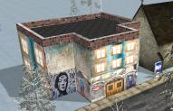 Graffitihaus ohne Dach