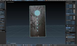 Tür aus dem Programm Cadvilla Basic Plus mit selbstgemachter Textur
